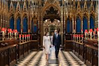 <p>As the COVID-19 vaccine rollout went into effect, the Duke and Duchess visited a vaccination center set up inside Westminster Abbey. </p>
