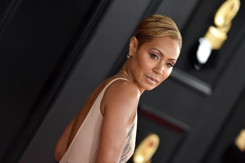 Jada Pinkett stuns in an open-back outfit and she looks amazing