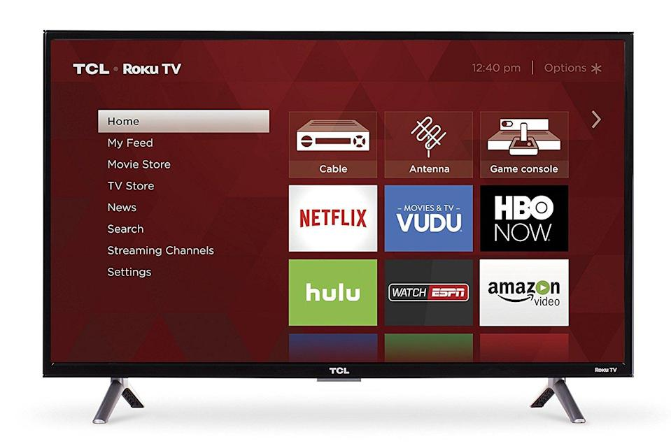 A TCL TV from Prime Day 2017.