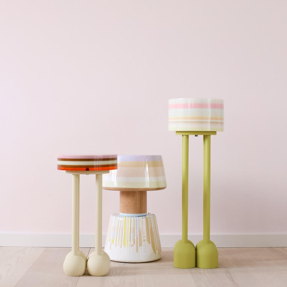 The Lolo and Who Am I side tables from Studio Yolk.