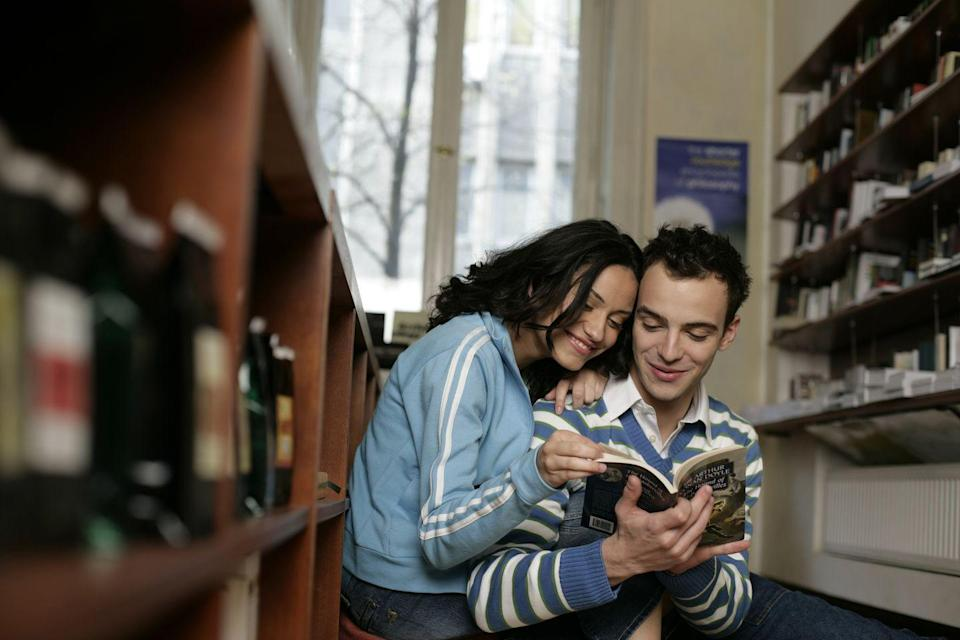 <p>When you're not in the mood to stare at a screen, pop by your nearest bookstore. Encourage your partner to pick a book for you, and do the same for them. Then spend your time reading each other's picks, and share your thoughts on both when you're done. </p>