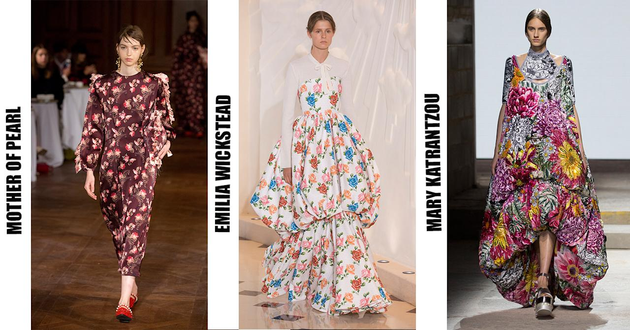 <p>Emilia Wickstead never fails to make us wish we had the money to invest in ladylike florals. And this season, Mary Katrantzou and Mother of Pearl followed suit with eye-catching prints aplenty. </p>