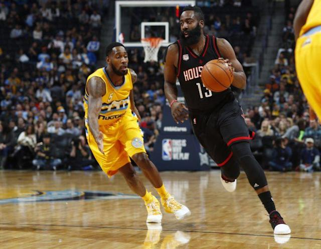 James Harden has reached another level this season. (AP)