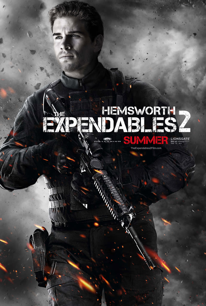 """Liam Hemsworth in Lionsgate's """"The Expendables 2"""" - 2012"""