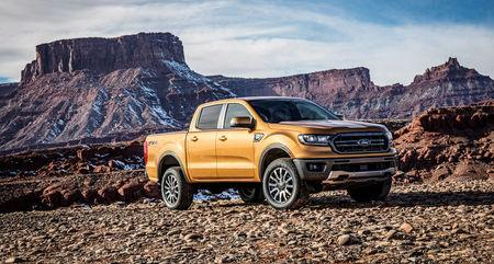 The 2019 Ford Ranger is pictured in this undated handout photo obtained by Reuters January 13, 2018.  Ford Motor Company/Handout via REUTERS