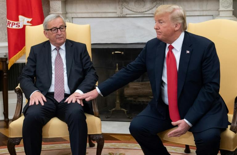 "US President Donald Trump, pictured with European Commission President Jean-Claude Juncker at the White house in July 2018, described the Luxembourgish politician as a ""tough cookie"""