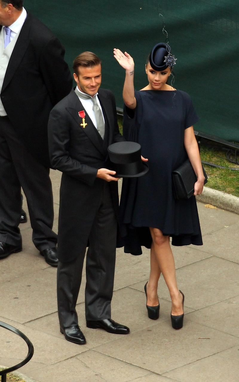 David and Victoria at the 2011 Royal Wedding - Getty