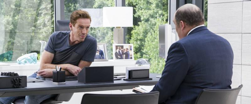 Damian Lewis as Bobby Axelrod, meeting with someone