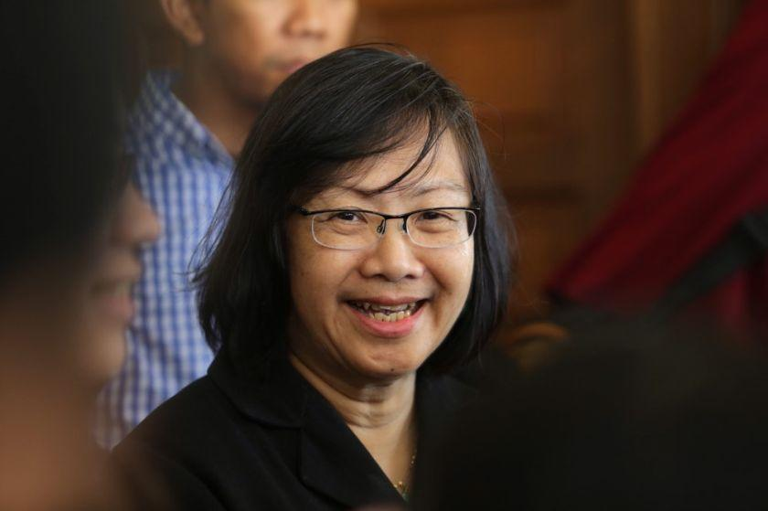 On Monday, Chin said she received a warning through a WhatsApp message from an unknown phone number that she and her three children would be beheaded if the Bersih 5 rally goes ahead. — Picture by Choo Choy May