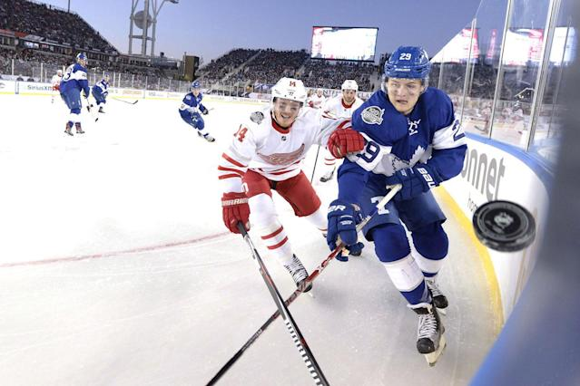 <p>The Maple Leafs kicked off 2017 with a thrilling overtime win against the Detroit Red Wings in the Centennial Classic at BMO Field on New Years Day. (Frank Gunn/CP) </p>
