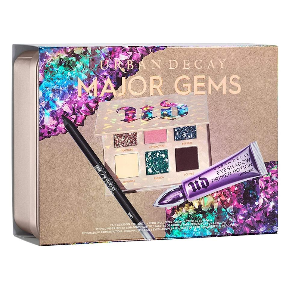 <p>Create stunning, unique looks with the <span>Urban Decay Stoned Vibes Major Gems Makeup Gift Set</span> ($49).</p>