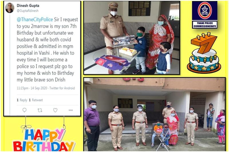Maharashtra Cops Celebrate 7-year-old Boy's Birthday as Parents Get Treated for Covid-19