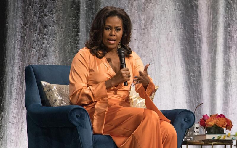 "Michelle Obama said the state of US politics had ""led to a weight I haven't felt in my life"" - WIREIMAGE"