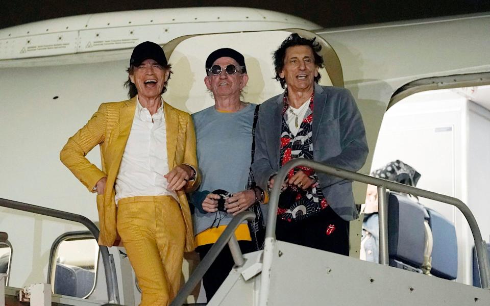 The Rolling Stones arrive at Hollywood Airport Monday