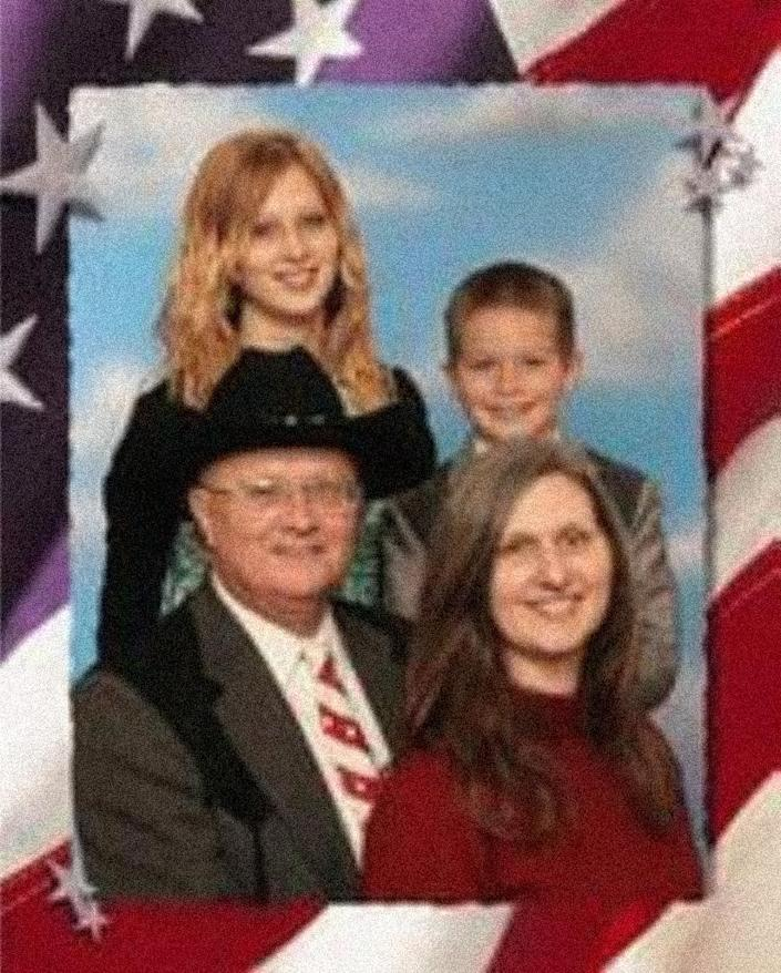 Image: Amanda Householder in a family portrait with her parents, Boyd and Stephanie Householder, who founded Circle of Hope Girls' Ranch in Missouri. (Courtesy of Amanda Householder)
