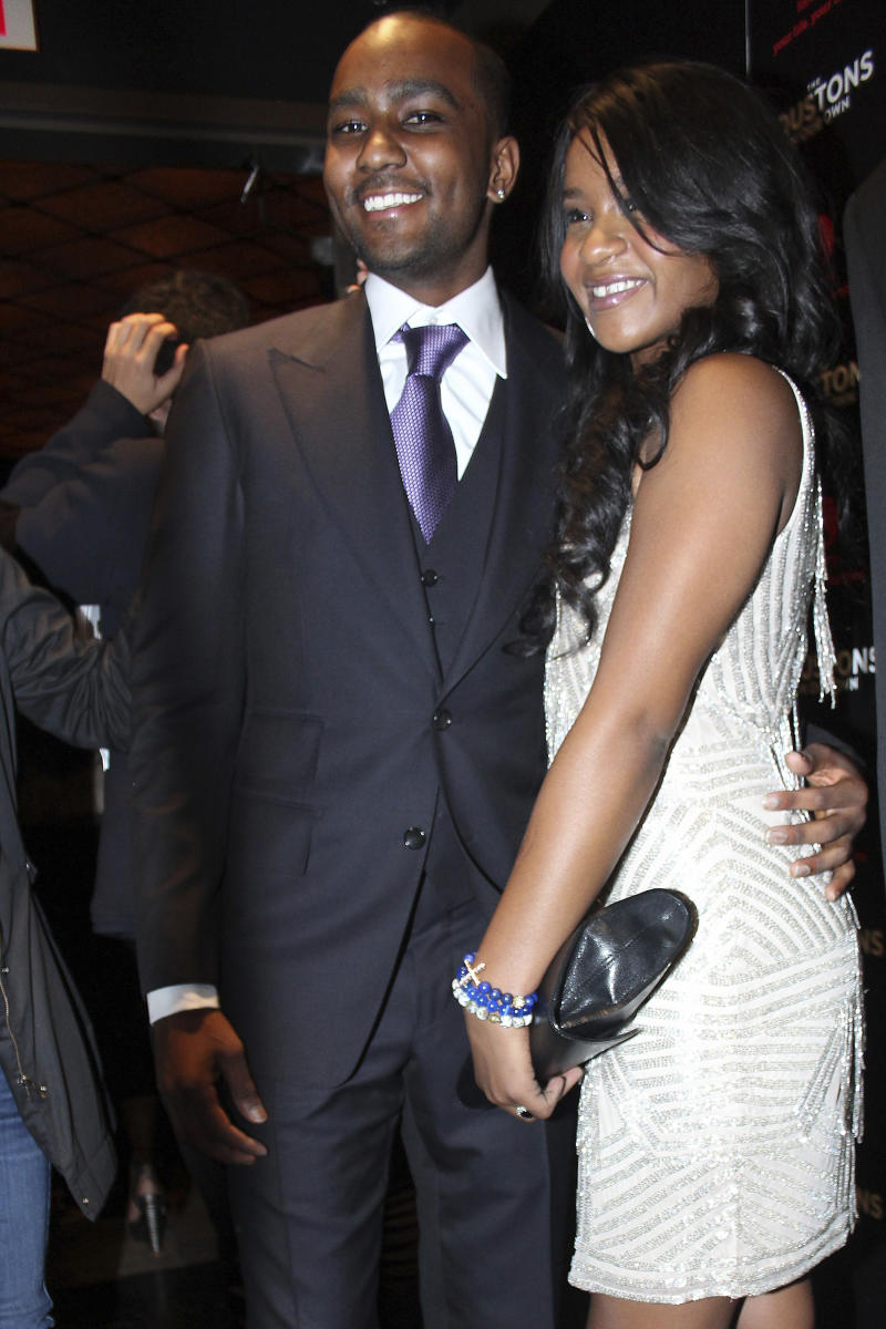 ***FILE PHOTO*** Bobbi Kristina Brown's Ex-Boyfriend Nick Gordon Dies of Drug Overdose. NEW YORK, NY - OCTOBER 22: Bobbi Kristina Brown and fiance NIck Gordon at The Houstons: On Our Own premiere party celebrating the launch of the new Lifetime docuseries at Tribeca Grand Hotel in New York City. October 22, 2012. Credit: Felicia Franco/MediaPunch /IPX