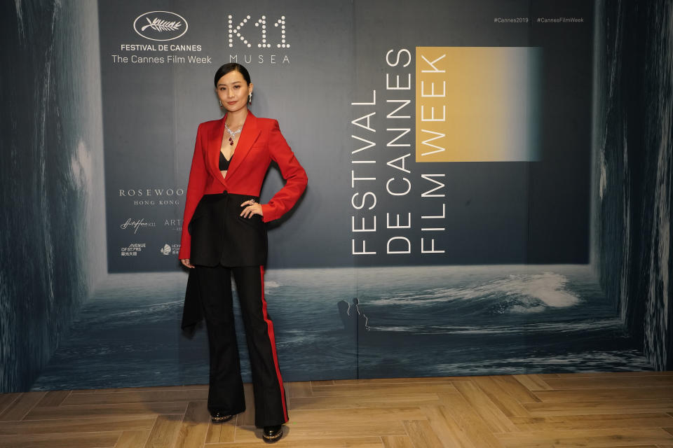 HONG KONG, CHINA - NOVEMBER 12: Fala Chen arrives at the opening ceremony of Festival de Cannes Film Week in Asia at K11 Musea on November 12, 2019 in Hong Kong, China. (Photo by Theodore Kaye/Getty Images for Festival de Cannes Film Week in Asia)