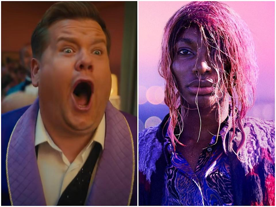 The haves and have-nots: James Corden in The Prom and Michaela Coel in I May Destroy You (Netflix/BBC)