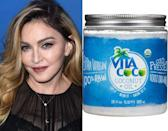 "<p>If it's good enough for Madge, it's good enough for us. <a href=""http://www.amazon.com/Vita-Coco-Organic-Virgin-Coconut/dp/B00N9IMNKA/ref=sr_1_1_s_it?s=grocery&srs=2603341011&ie=UTF8&qid=1454541399&sr=1-1&keywords=vita+coco+coconut+oil"" rel=""nofollow noopener"" target=""_blank"" data-ylk=""slk:Vita Coco Coconut Oil"" class=""link rapid-noclick-resp"">Vita Coco Coconut Oil</a> ($16.99) is the Material Girl's multipurpose pick that you can keep in the kitchen for cooking and also use to resuscitate dry hair, skin, and cuticles. <br></p><p><i>(Photo: Getty Images/Vita Coco)</i><br></p>"