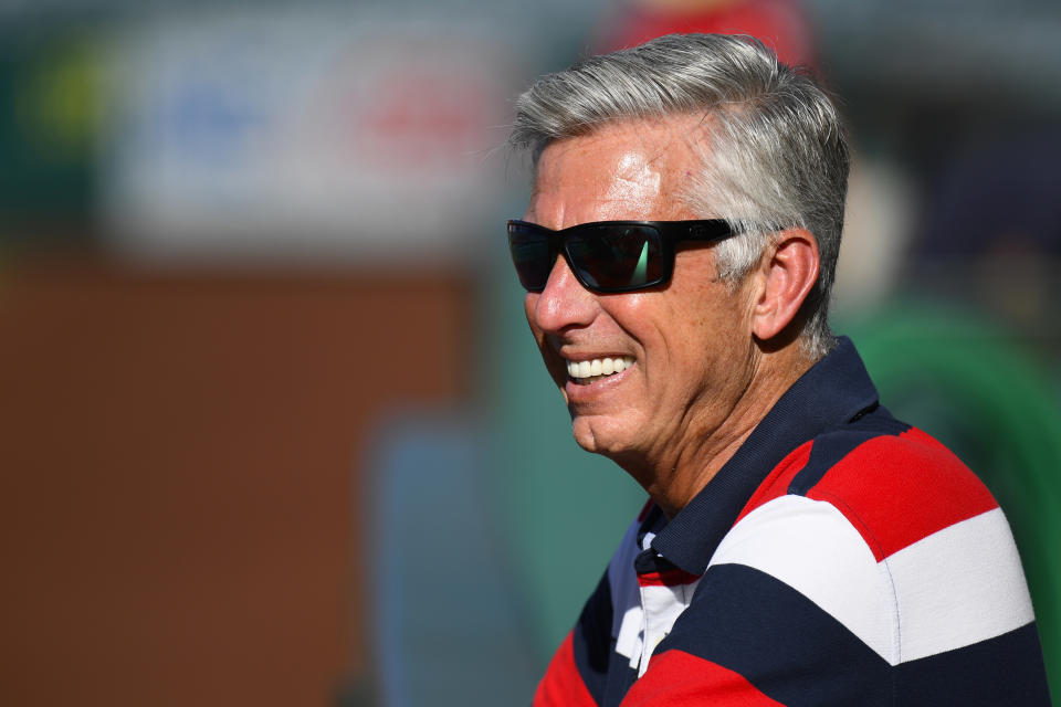 Dave Dombrowski, two-time World Series-winning exec, has been hired to as new Phillies team president. (Photo by Brian Rothmuller/Icon Sportswire via Getty Images)