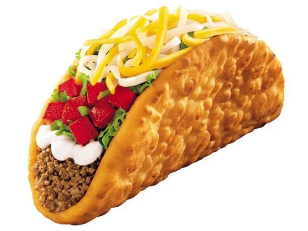 """<div class=""""caption-credit""""> Photo by: Photo: Taco Bell Corp.</div><b>7. Taco Bell Beef Chalupa Supreme</b> <br> Taco Bell's once-beloved flatbread Gordita was eclipsed by a crispier counterpart in 1999, as the Chalupa made its way from the test kitchen to the menu. Composed of a crispy yet chewy taco shell filled with seasoned ground beef, tangy sour cream, shredded lettuce, diced tomatoes, and a three-cheese blend, the Chalupa updated the traditional taco and quickly became a consumer favorite at the chain's 5,600 locations nationwide. <br> <b>More from Gourmet:</b> <br> <b><a href=""""http://www.gourmet.com/recipes/menus/2008/08/burger-slideshow?mbid=synd_yshine"""" rel=""""nofollow noopener"""" target=""""_blank"""" data-ylk=""""slk:Gourmet's 12 Best Burgers of All Time"""" class=""""link rapid-noclick-resp"""">Gourmet's 12 Best Burgers of All Time</a> <br></b> <b><a href=""""http://www.gourmet.com/recipes/2000s/2009/03/sandwiches-of-the-world-slideshow#slide=1?mbid=synd_yshine"""" rel=""""nofollow noopener"""" target=""""_blank"""" data-ylk=""""slk:The Best Sandwiches Around the World"""" class=""""link rapid-noclick-resp"""">The Best Sandwiches Around the World</a> <br></b> <br>"""