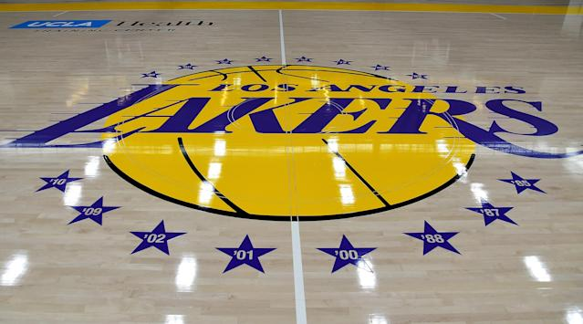 "<a class=""link rapid-noclick-resp"" href=""/nba/teams/la-lakers/"" data-ylk=""slk:The Lakers"">The Lakers</a> announced the death of JoAnn Buss. (Photo by Jayne Kamin-Oncea/Getty Images)"