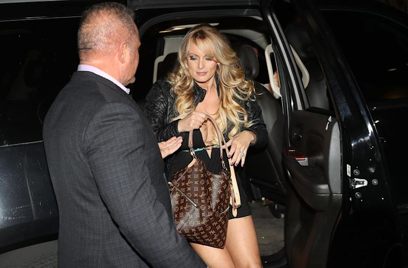 Stormy Daniels, arrives to perform at the Solid Gold Fort Lauderdale strip club: Joe Raedle/Getty Images
