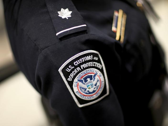 A US Customs and Border Protection agent.