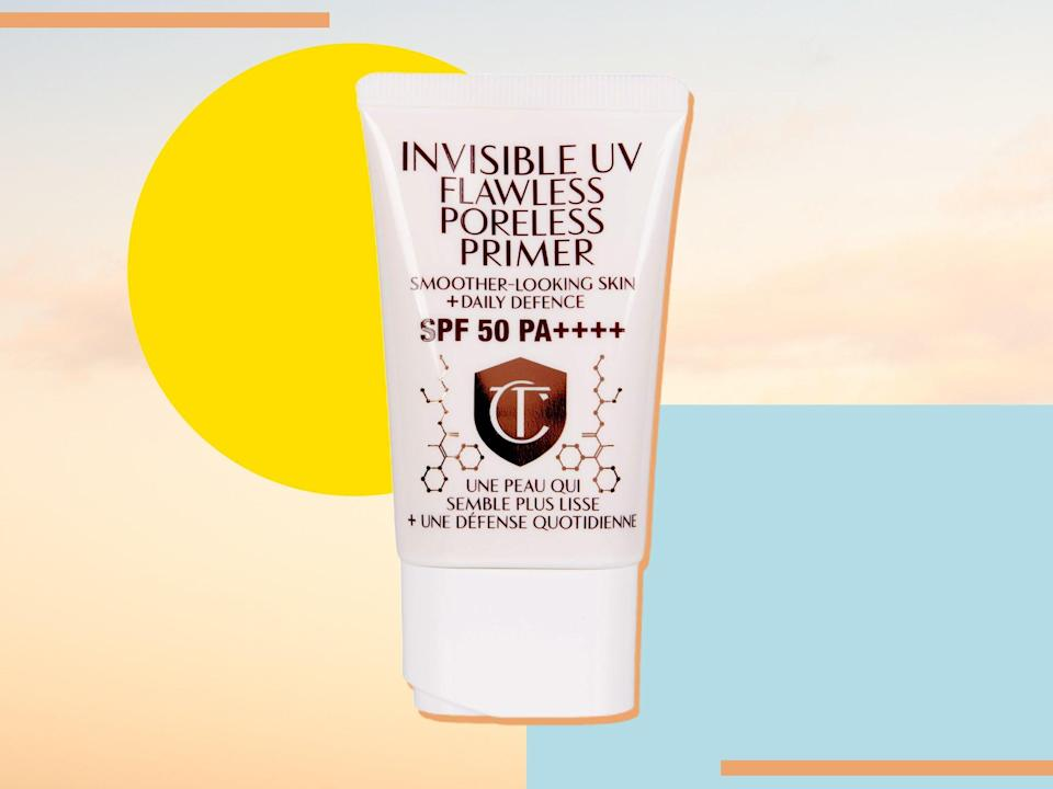 The sunscreen primer hybrid boasts SPF 50 protection and claims to blur imperfections while adding radiance (The Independent)