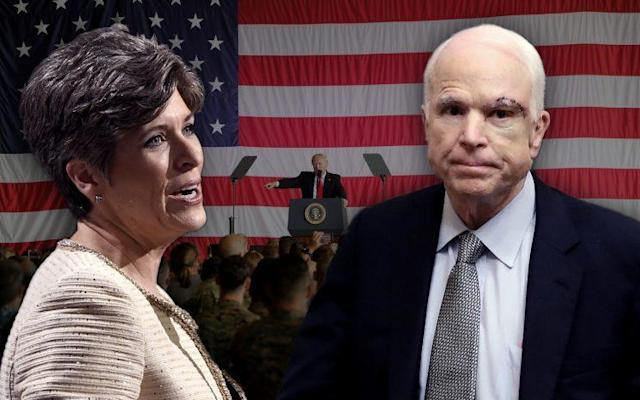 Sens. McCain and Ernst, both veterans, oppose Trump's ban on transgender military service