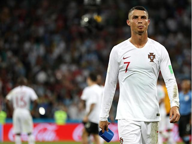 Cristiano Ronaldo will be watching the rest of the World Cup from his couch. (Getty)