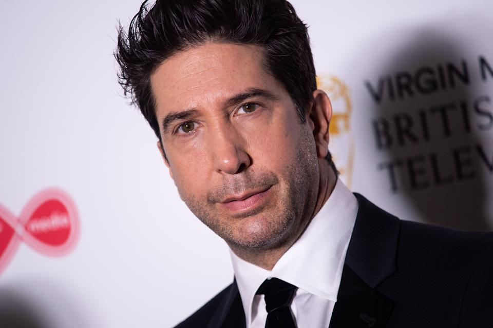 David Schwimmer in the press room at the Virgin Media BAFTA TV awards, held at the Royal Festival Hall in London. (Photo by Matt Crossick/PA Images via Getty Images)