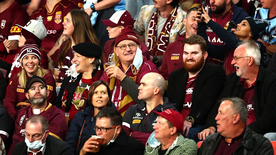Queensland fans, pictured here at Suncorp Stadium for State of Origin II.