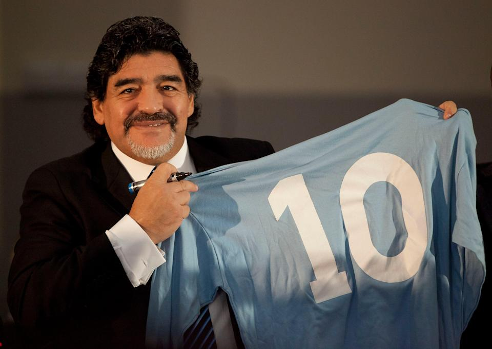 Diego Maradona famously wore the No 10 jersey (Getty)