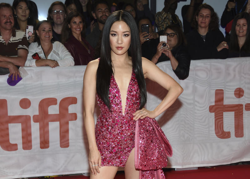 """Constance Wu attends the premiere for """"Hustlers"""" on day three of the Toronto International Film Festival at Roy Thomson Hall on Saturday, Sept. 7, 2019, in Toronto. (Photo by Evan Agostini/Invision/AP)"""