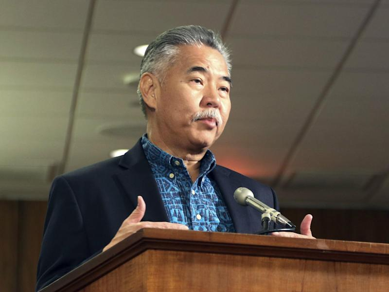 Hawaii Governor David Ige answers questions during a hearing in Honolulu, 19 January 2018: AP Photo/Jennifer Sinco Kelleher