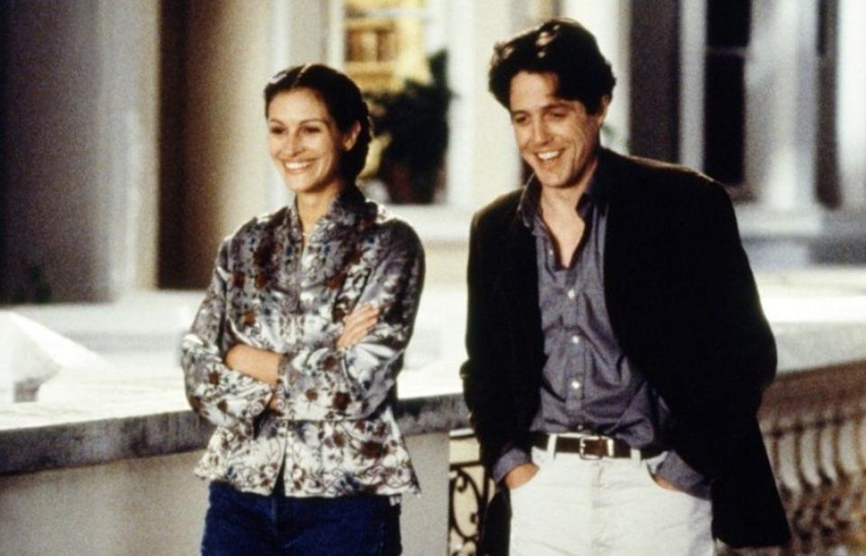 Julia Roberts and Hugh Grant in the movie & # x002018; Notting Hill & # x002019 ;.  (Photo: Polygram Filmed Entertainment).