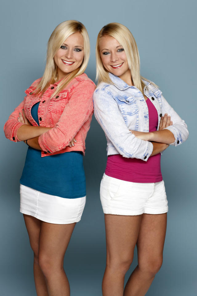 <b>BRITTANY and ERICA TALTOS (Super Fans)<br></b><br>These two are the definition of double the trouble and double the fun. They are in it for the money and maybe to find a guy, but nothing serious. Erica has the reputation for being the smarter, more conservative twin. She is still a virgin and has not dated much. Brittany, however, could not be more opposite of Erica. She is the flirtatious, boy-crazy twin.