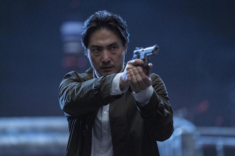 Takehiro Hira plays Kenzo Mori, a world-weary Tokyo cop sent to London to find his wayward brother: BBC/Sister Pictures