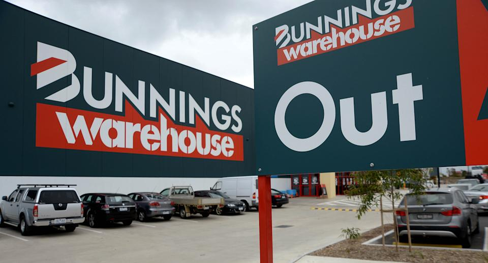 Bunnings Warehouse signage is displayed outside the store, operated by Westfarmers Ltd., in Melbourne, Australia on Tuesday, Feb. 17, 2015. Source: Getty Images