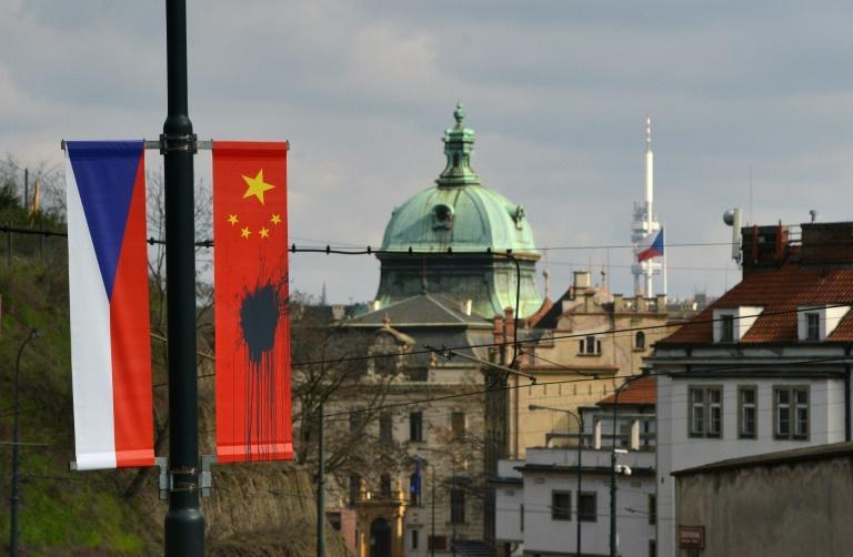 A row over a Czech politician's visit to Taiwan is threatening to strain relations between Prague and Beijing