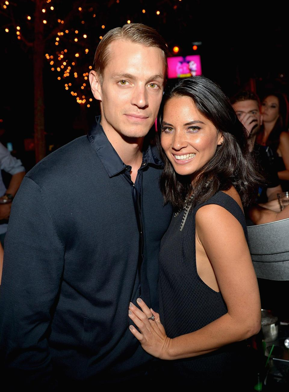 """<p><a href=""""https://www.usmagazine.com/celebrity-news/news/olivia-munn-joel-kinnaman-split-after-two-years-2014294/"""" class=""""link rapid-noclick-resp"""" rel=""""nofollow noopener"""" target=""""_blank"""" data-ylk=""""slk:Olivia began romancing the fellow actor"""">Olivia began romancing the fellow actor</a> in March 2012, but they called it quits after two years together. A source told <b>Us Weekly</b> that the reason for their split had to do with distance since Joel was filming in Toronto and Olivia was in LA at the time.</p>"""