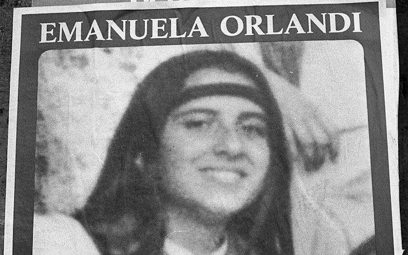 A poster asking for information on Italian teenager Emanuela Orlandi, the daughter of a Vatican employee, believed to have been kidnapped after a music lesson in Rome on June 22, 1983 when she was 15-years-old - AP