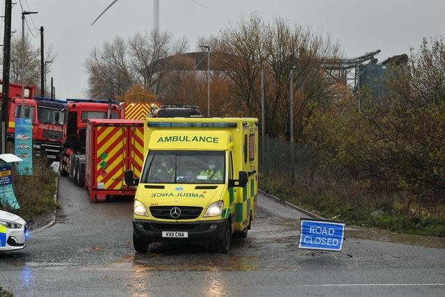 Emergency services were called to the incident on Thursday (Ben Birchall/PA)