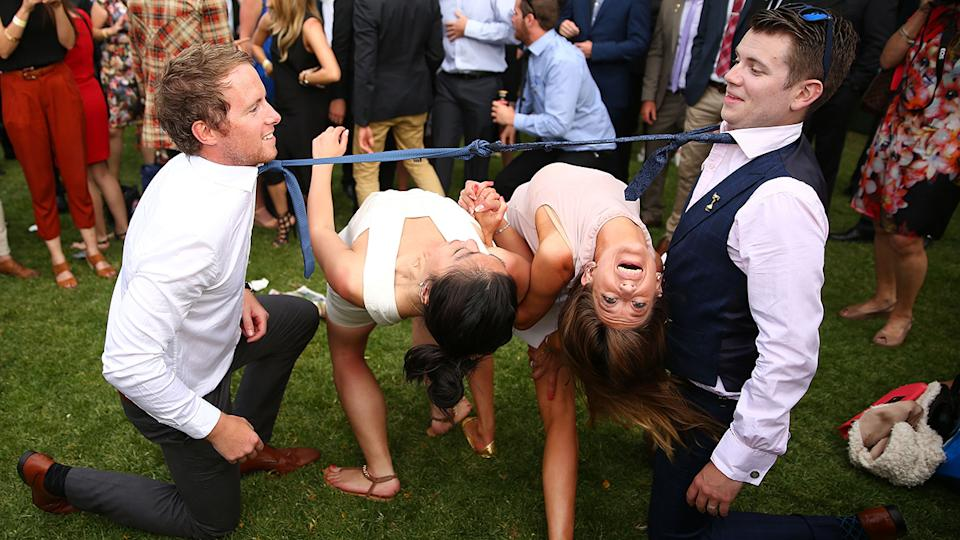 Revellers, pictured here enjoying Melbourne Cup festivities in 2015.