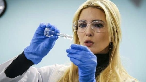 Ivanka Trump Called Out For 'Cosplaying' As A Scientist In Latest Weird Photo Op