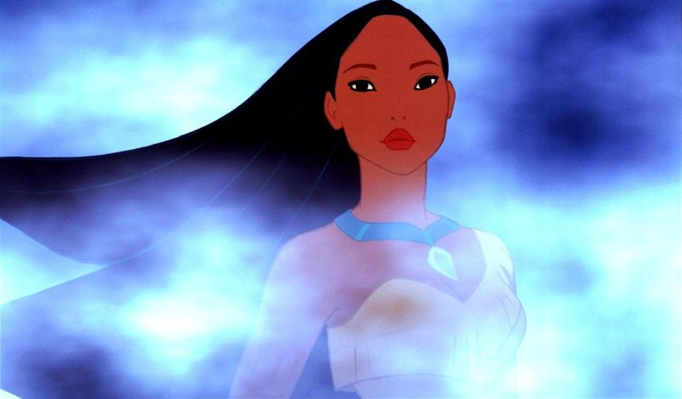 """<p>Disney's version of the Native American princess's story takes great liberties with her life, and that historical inaccuracy understandably didn't sit well with many. But the movie was still a big hit, with stunning animation and dazzling songs like """"Just Around the Riverbend"""" and """"Colors of the Wind."""" </p>"""