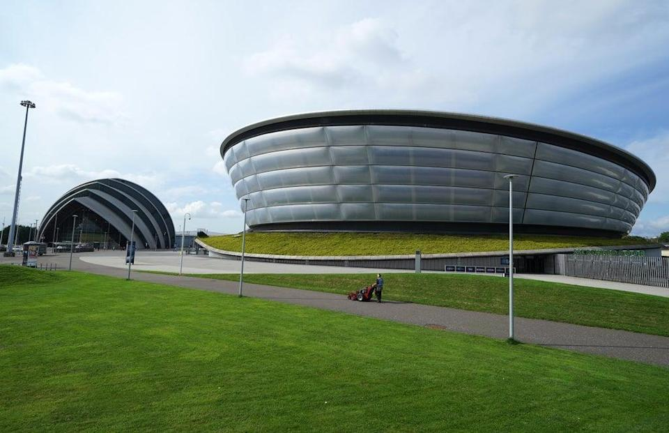 The summit is taking place at the Scottish Event Campus in Glasgow. (Andrew Milligan/PA)