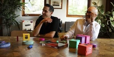 """Gerald """"G-Eazy"""" Gillium, partner and key member of Flowershop* pictured with Kiran Sidhu, CEO of Halo Labs (CNW Group/Halo Labs Inc.)"""