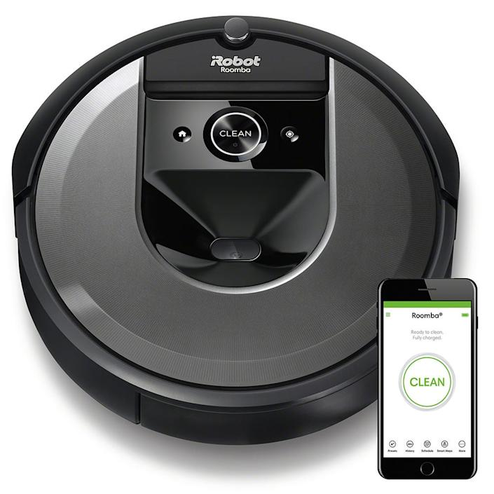 """<em>For the mom who would prefer to leave the cleaning to a robot:</em><br><h2>iRobot Roomba i7</h2>This robot vacuum learns and adapts to your home and is compatible with Alexa and Google Assistant, so it's as simple as directing it to clean the bathroom via voice command. It also cleans up <em>all</em> the pet hair. Very handy. And it's $100 off!<br><br><br><br><br><strong>iRobot</strong> iRobot® Roomba® i7 (7150), $, available at <a href=""""https://go.skimresources.com/?id=30283X879131&url=https%3A%2F%2Fstore.irobot.com%2Fdefault%2Froomba-vacuuming-robot-vacuum-irobot-roomba-i7-7150%2Fi715020.html"""" rel=""""nofollow noopener"""" target=""""_blank"""" data-ylk=""""slk:iRobot"""" class=""""link rapid-noclick-resp"""">iRobot</a>"""